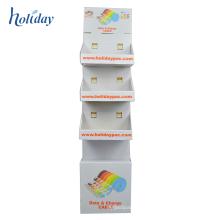 Data Line Cardboard Floor Display Rack,Shampoo Cardboard Floor Display Rack