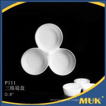 Novos produtos de porcelana para venda design redondo placa de louça fina