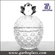 Crystal Pineapple Shape Glass Jar with Cover
