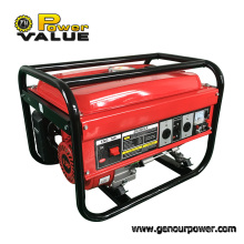 Power Value Taizhou Hot Sale 2.5kw Portable Open Single Phase Gasoline Generator