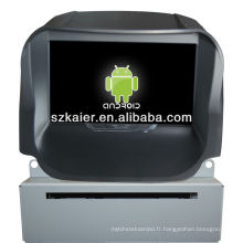 Android System lecteur dvd de voiture pour 2013 FORD Ecosport avec GPS, Bluetooth, 3G, ipod, jeux, double zone, contrôle du volant