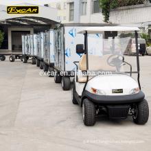 2 Seat electric golf car electric brake controller trailer with cargo trailer