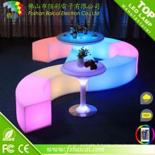 LED Plastic Bar KTV Garden Bench Chair pour mariage