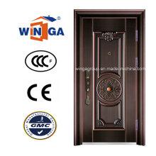 Porte de cuivre métallique métallique de sécurité du marché du Moyen-Orient (W-ST-05)