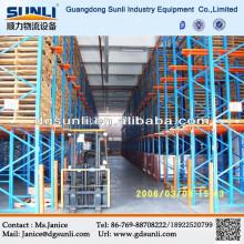 CE warehouse drive in pallet metal rack