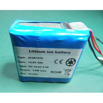 14.8V 5Ah rechargeable battery pack with LCD display