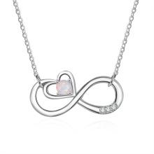 Opal Stone Hot Sale Popular Silver Jewelry Opal Necklace for Women