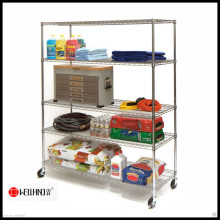 Strengthened Heavy Duty Chrome Restaurant Shelving Unit