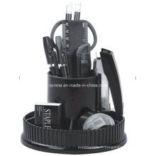 Organisateur de papeterie de bureau en plastique pour ordinateur portable en couleur noir406