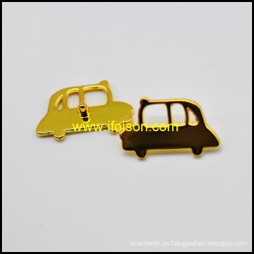 Forma del coche Metal Jeans placa en color oro brillante
