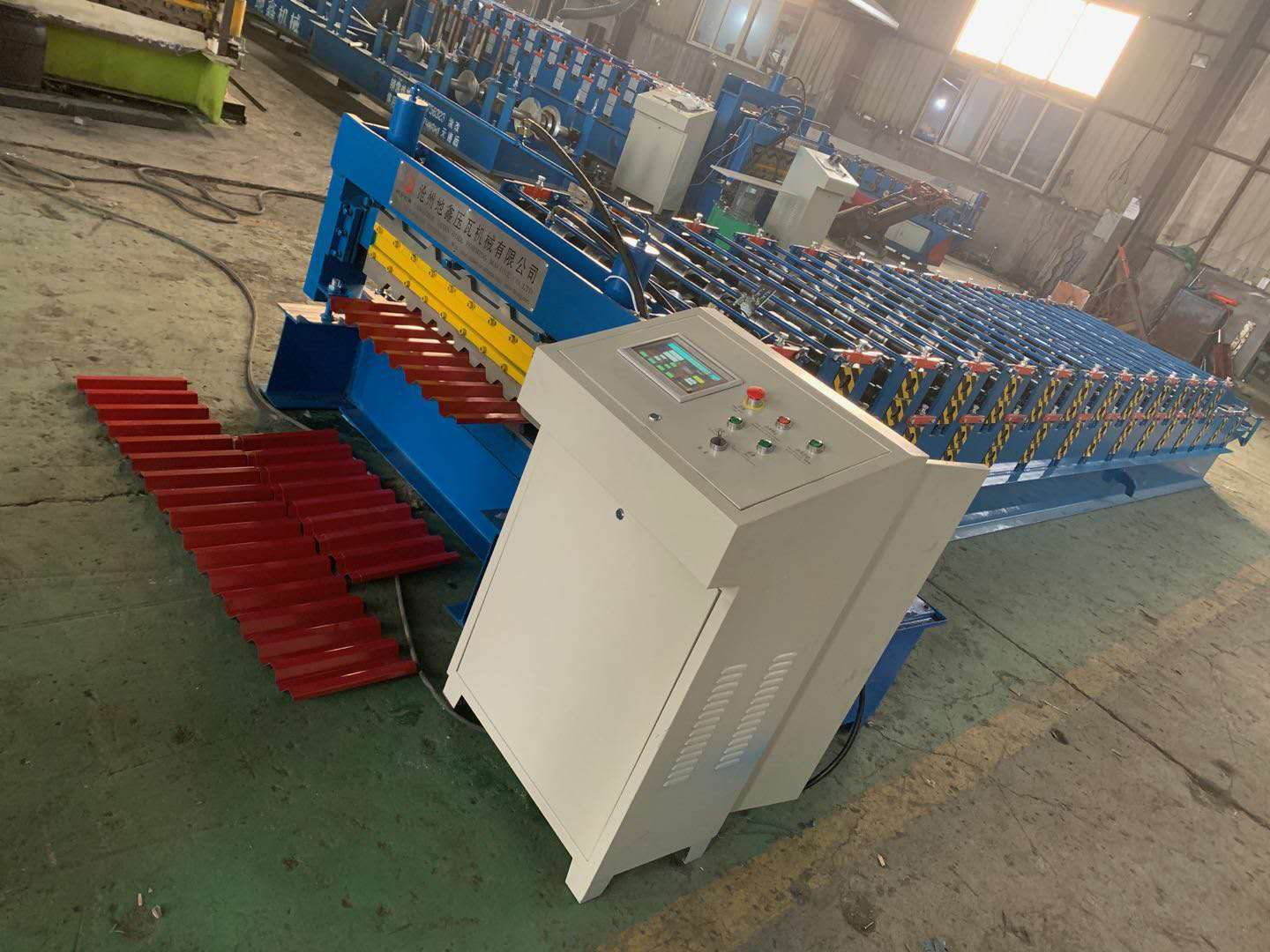 High speed Color Steel Double Trapezoidal Forming Machine