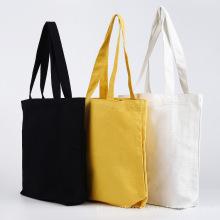 Bolsa de compras reciclable en blanco y negro liso en blanco