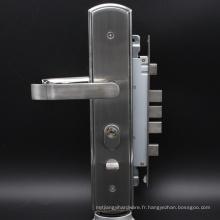 SUS304 nouvelle serrure élégante de porte de sécurité de satin avec le cylindre de serrure de 68