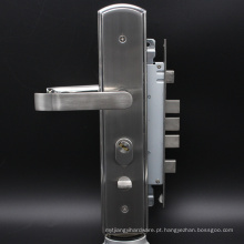 SUS304 novo bloqueio de porta de segurança de cetim elegante com cilindro de trava 68