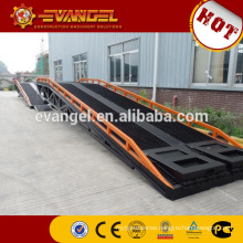 Hydraulic container truck loading ramp for forklift