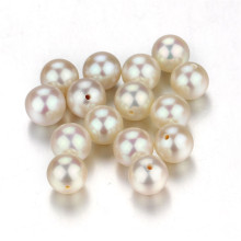 Snh White Natural Half-Drilled Wholesale Loose Pearls