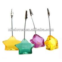 star shapes resin clip memo holder