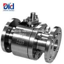 O tanque de água do flutuador de Aga flangeou o fabricante da válvula de bola do aço inoxidável de alta pressão 3 do carbono Cf8m