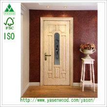 Couleur lumineuse Hot Selling China Porte en bois massif avec Groove Décorations