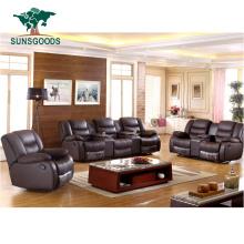 Latest Design Living Room Leather Sofa Set 3 2 1 Seat, Luxury Leather Sofa Set 7 Seater Living Room Furniture