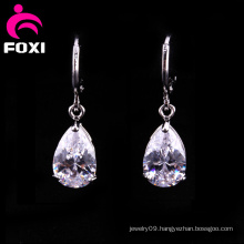 Latest Wholesale Zircon Pear Shape Earrings