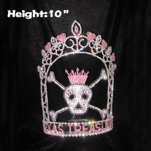 Coroas feitas sob encomenda do concurso do tesouro do crânio da altura 10in
