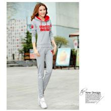 Moda Sytle Lady OEM Sport Suit sudaderas con capucha y pantalones