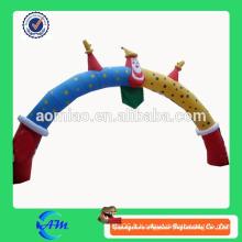 Porte-cloche gonflable clown drôle pour l'arc gonflable extérieur commercial pour la publicité