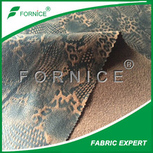 polyester animal print fake leather jacket for man