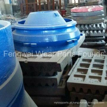 Peças de desgaste do britador OEM Forro do recipiente, placa de garra para Metso