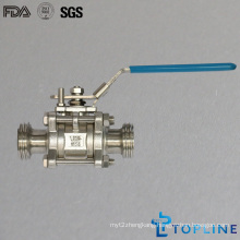 Sanitary Stainless Steel Ball Valves with Thread Ends