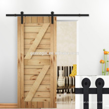 Solid wooden interior sliding barn door