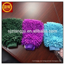 MicroCareful Car Wash Mitt - Coche premium lavado Mitt w / Microfibra de alta calidad microfibra tela Waffle Weave Car Towel