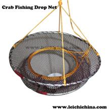 em estoque rede de gota de pesca de caranguejo dobrável