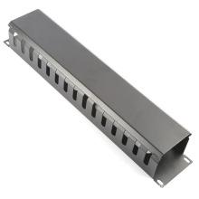 """2u 19 """"Metal Rack Mount Horizontal Cable Manager para fiação"""