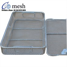 Stainless Steel Mesh Sterilization Basket With Lids