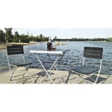 Al aire libre Patio muebles-teca madera 3pc conjunto chat