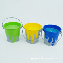 Manufacturer Scented Tin Bucket Citronella Candles