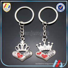 heart shape keyring,metal couple love keyring