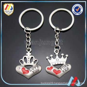 heart shape keyring,metal couple love keyring