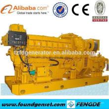 16 cilindros V tipo TBG serie 1500KW generador eléctrico de gas natural