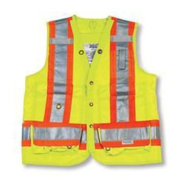 Lime Green 100% Polyester Surveyor Vest