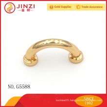 Mini arch bridge light gold zinc alloy metal decoration for bag