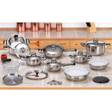 Amazon Vendor New 12 Element 28PC T304 Stainless Steel Waterless Cookware Set Pots & Pans