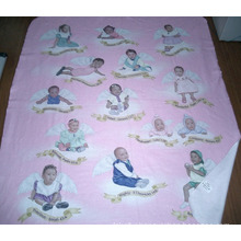 Custom 100% Polyester Fleece Blanket with Transfer Printing