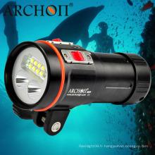 Professional W43vp 5, 200lm Lumière de plongée multifonctionnelle avec support de montage à bille de 1 po