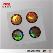 Tief 2D 3D Dot-Matrix-Hologramm-Aufkleber für Parfüm