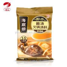 Sopa de champiñones Sopa de champiñón caliente haidilao nuevo paquete para comida