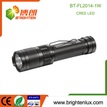 Factory Supply Aluminum Material 1*AA Cell Powered Cool Bright Pocket 1watt Cree led Best Small Flashlight Torch