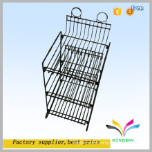 Stackable Black Powder Coated Floor Paint Can Wire Display Rack